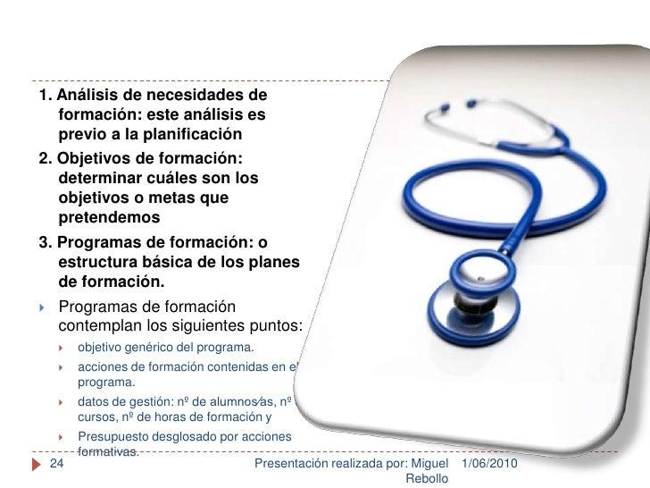 1/06/2010<br />Presentación realizada por: Miguel Rebollo<br />24<br />1. Análisis de necesidades de formación: este análi...