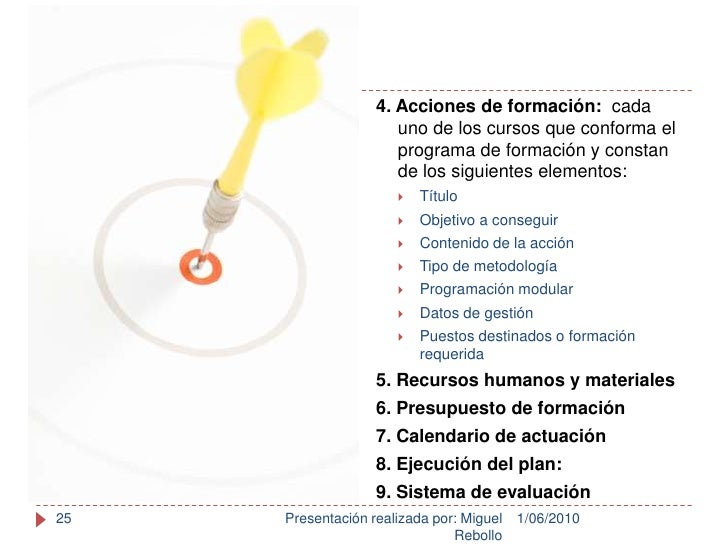 1/06/2010<br />Presentación realizada por: Miguel Rebollo<br />25<br />4. Acciones de formación:  cada uno de los cursos q...