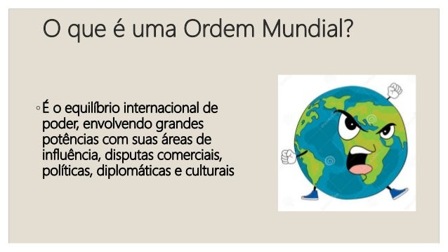 Módulo 1 – Ordens mundiais  Slide 2
