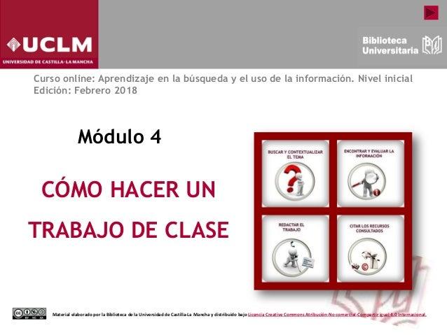 Módulo 4 Cómo Hacer Un Trabajo De Clase Edición Febrero 2018