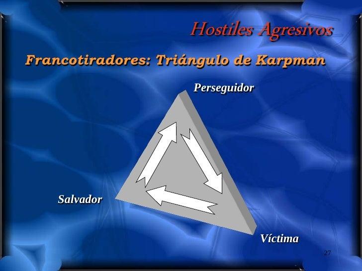 Hostiles Agresivos Francotiradores: Triángulo de Karpman                     Perseguidor         Salvador                 ...