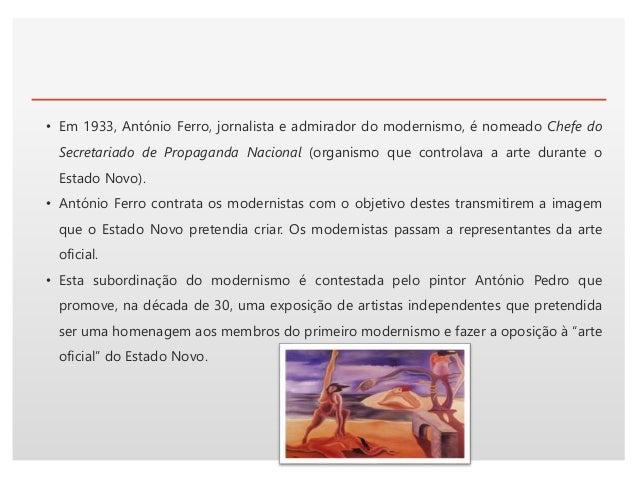 Click to edit Master text styles• Expressionismo: Mário Eloy (representação dos sonhos, figuras humanas com arabescos insi...