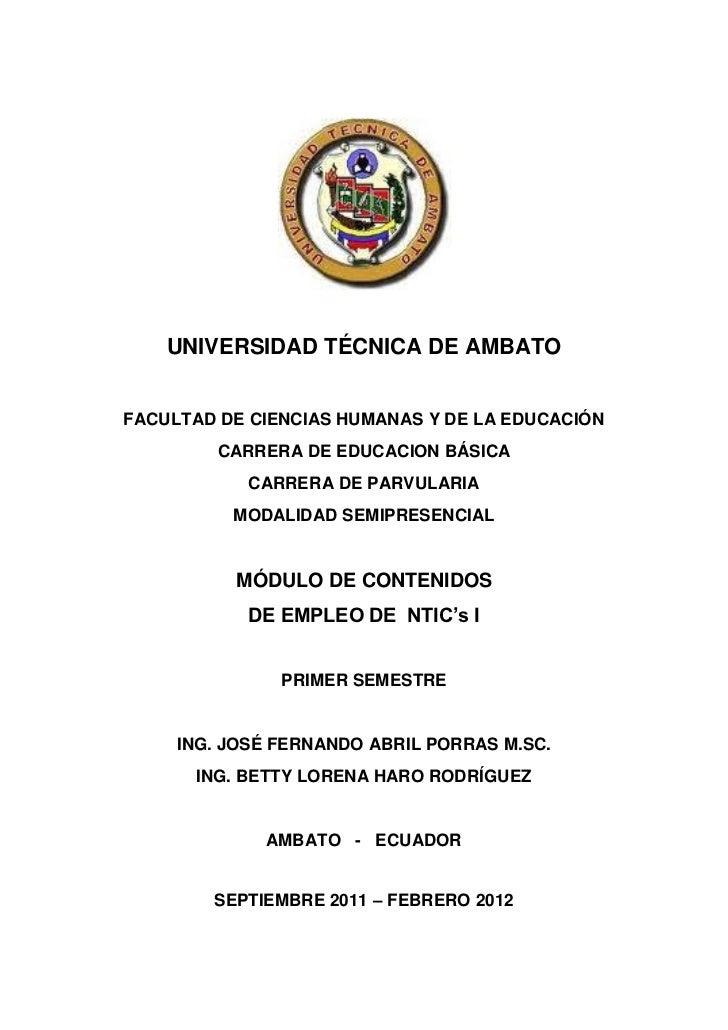 UNIVERSIDAD TÉCNICA DE AMBATOFACULTAD DE CIENCIAS HUMANAS Y DE LA EDUCACIÓN         CARRERA DE EDUCACION BÁSICA           ...