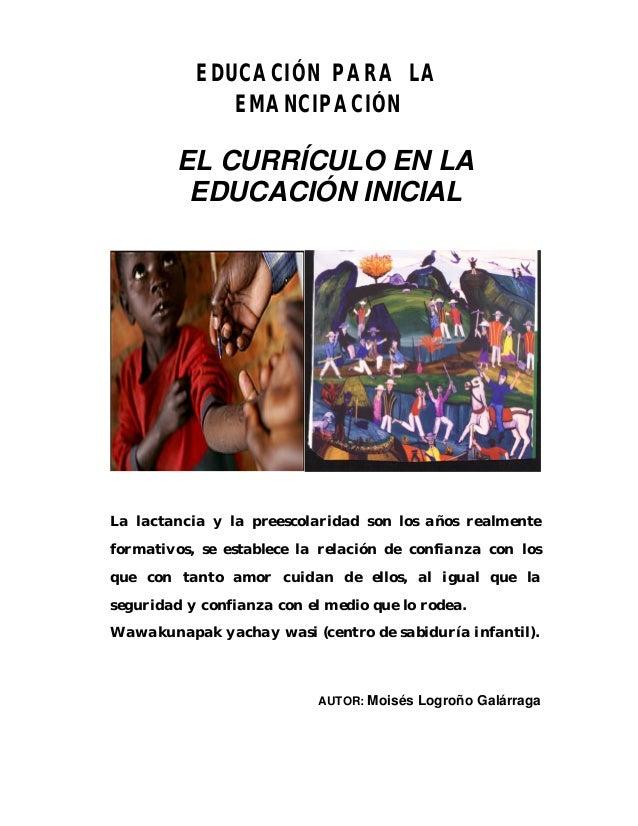 Módulo de teoría curricular de educación inicial 2012