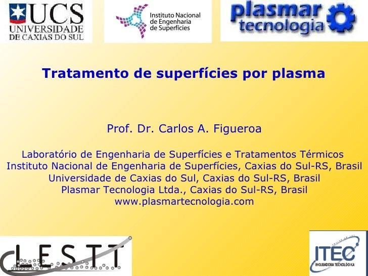 Prof. Dr. Carlos A. Figueroa Laboratório de Engenharia de Superfícies e Tratamentos Térmicos  Instituto Nacional de Engenh...
