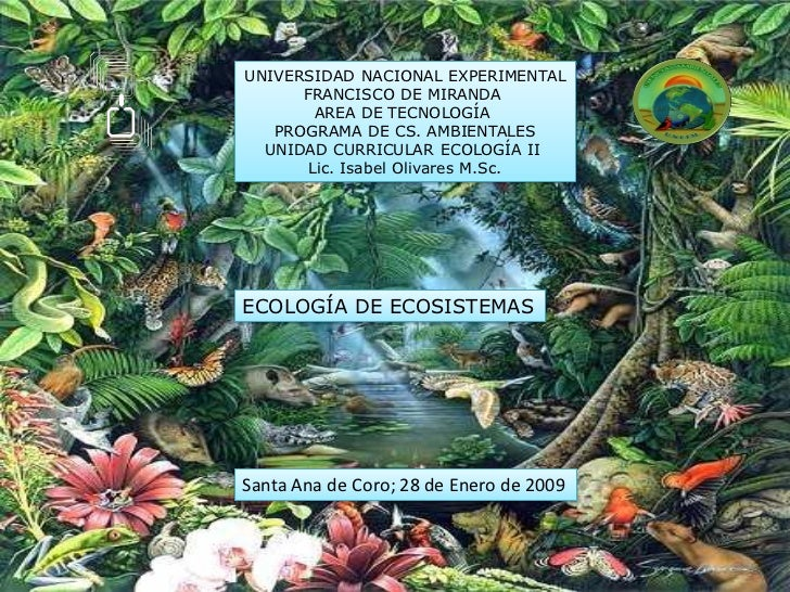 UNIVERSIDAD NACIONAL EXPERIMENTAL      FRANCISCO DE MIRANDA        AREA DE TECNOLOGÍA   PROGRAMA DE CS. AMBIENTALES  UNIDA...