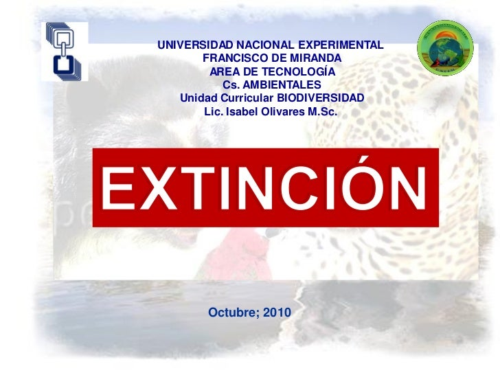UNIVERSIDAD NACIONAL EXPERIMENTAL       FRANCISCO DE MIRANDA        AREA DE TECNOLOGÍA           Cs. AMBIENTALES   Unidad ...