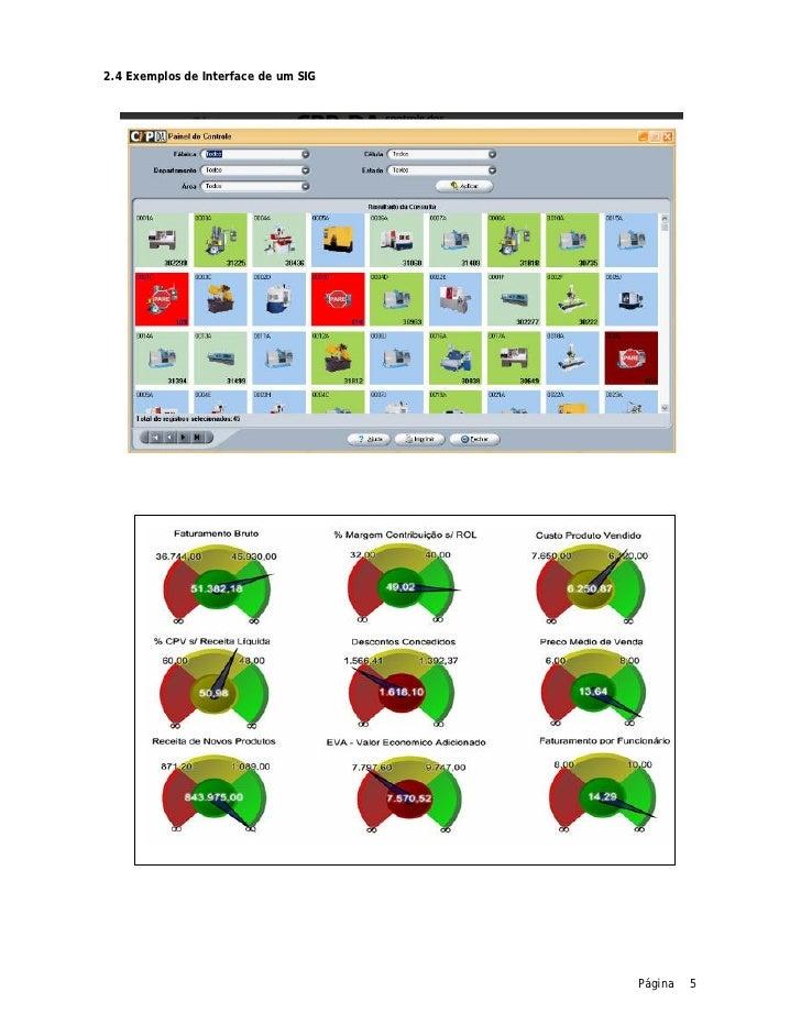 2.4 Exemplos de Interface de um SIG                                      Página   5