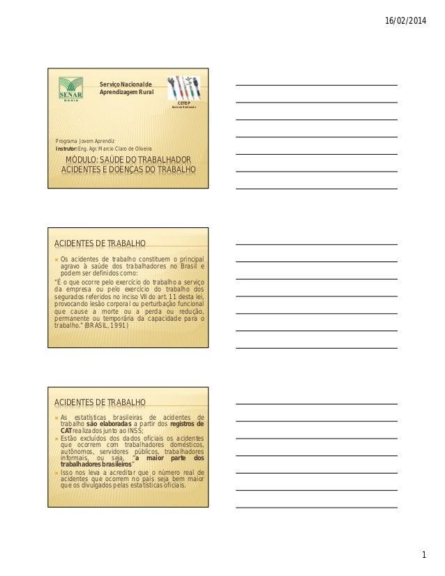 16/02/2014  Serviço Nacional de Aprendizagem Rural CETEP Bacia do Rio Grande  Programa Jovem Aprendiz Instrutor: Eng. Agr....