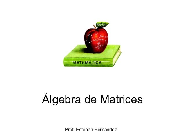 Álgebra de Matrices    Prof. Esteban Hernández