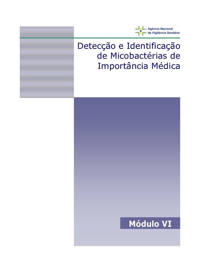 Detecção e Identificação de Micobactérias de Importância Médica Módulo VI