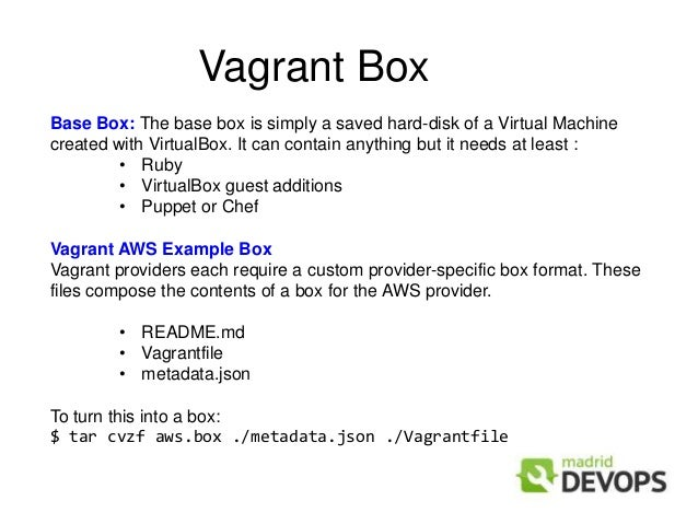 Immutable Servers Provided By Vagrant Chef Aws