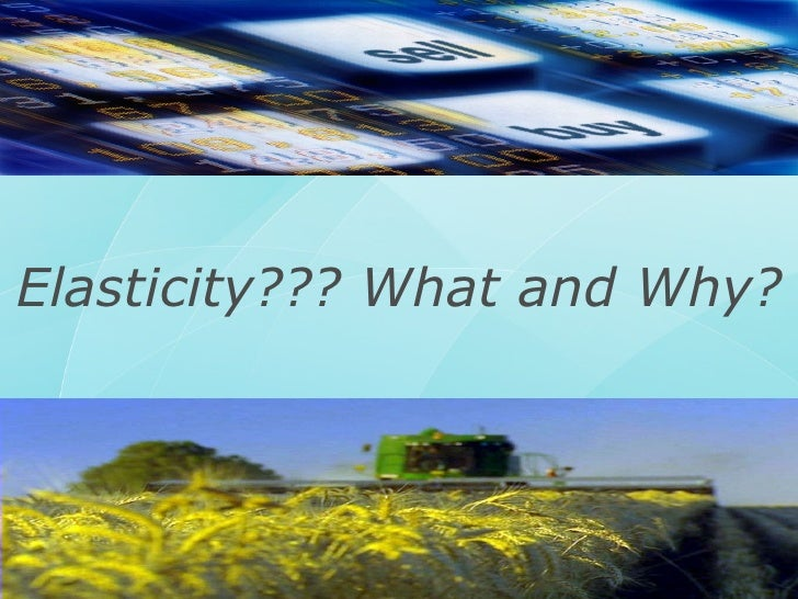 Elasticity??? What and Why?