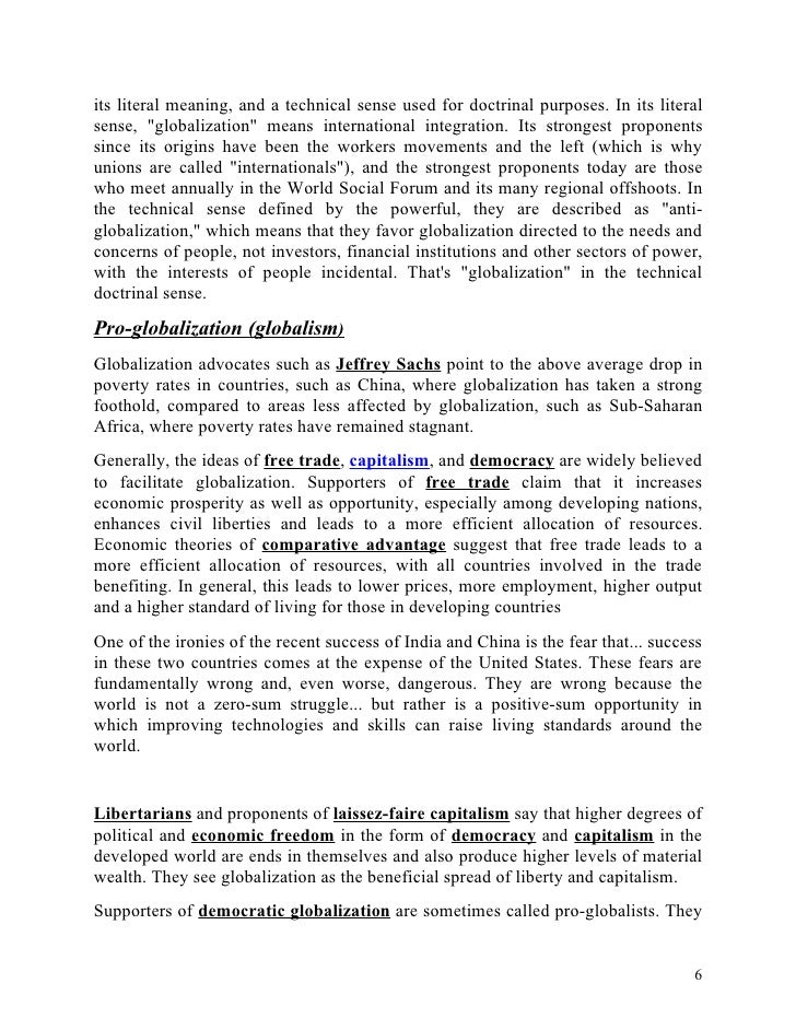 The opportunities and risks of globalization essay