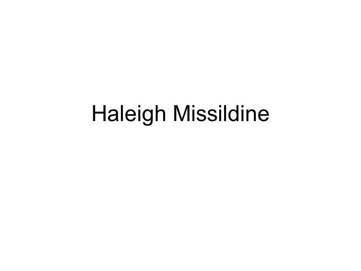 Haleigh Missildine