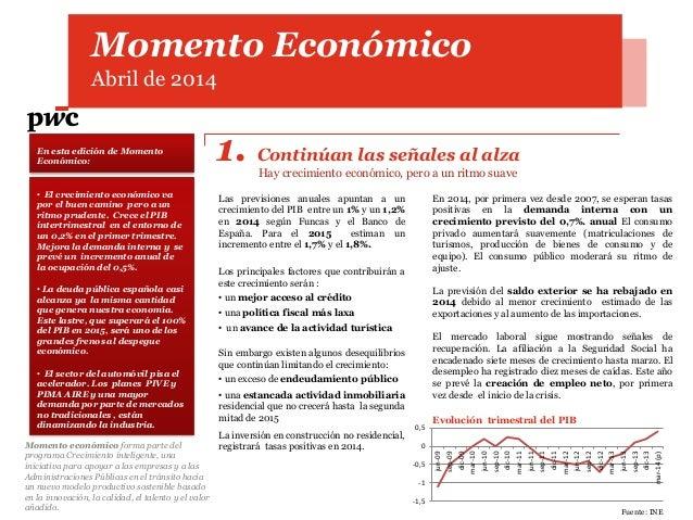 Momento Económico Abril de 2014 En esta edición de Momento Económico: Momento económico forma parte del programa Crecimien...