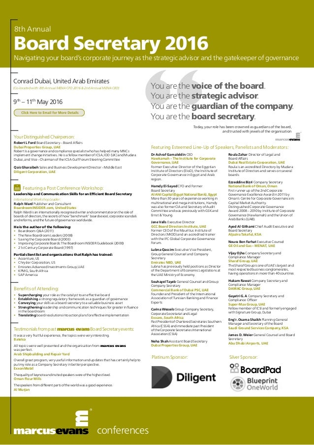 8th annual board secretary 2016 conferences you are the voice of the board you are the strategic advisor malvernweather