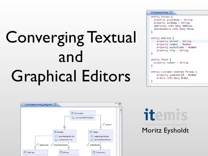Converging Textual       and Graphical Editors                       Moritz Eysholdt