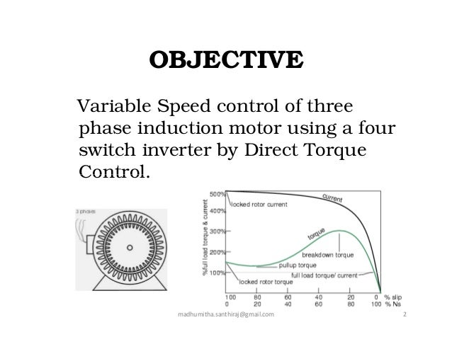 Speed control methods of induction motor