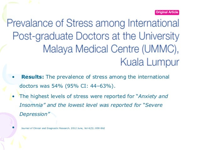 A Study of Stress among Students of Professional Colleges from an Urban area in India