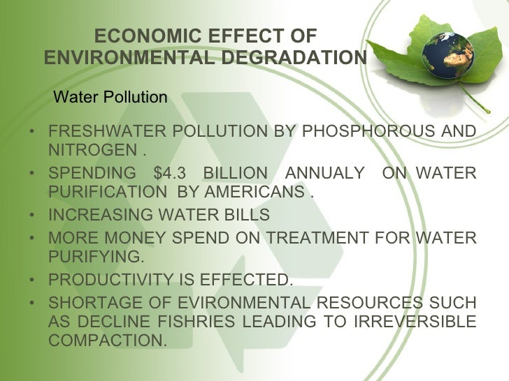 Environmental degradation