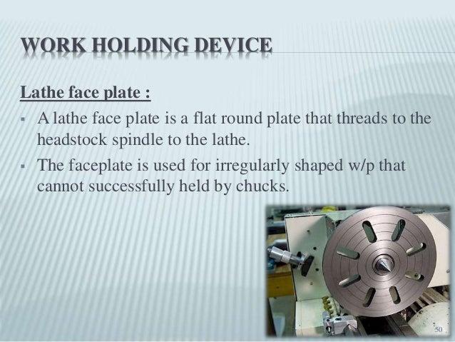 lathe machine work holding device