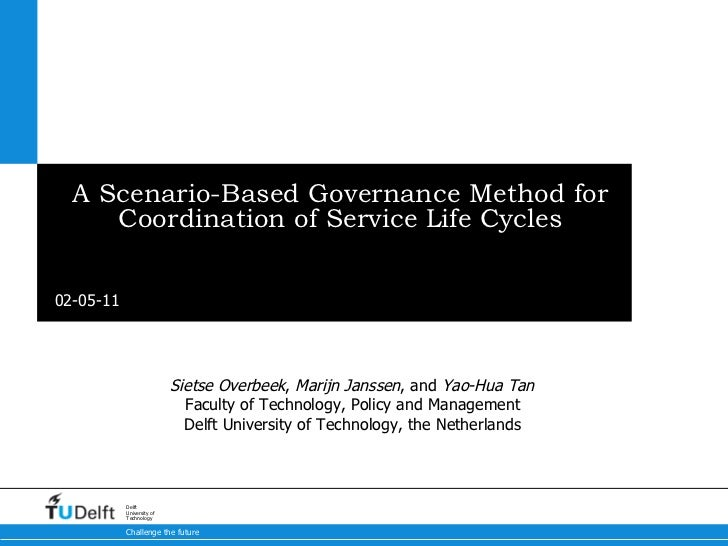 A Scenario-Based Governance Method for Coordination of Service Life Cycles ME 2011 Sietse Overbeek ,  Marijn Janssen , and...