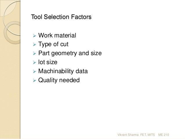 Machine Tool & Machining ME 210_2 Slide 3