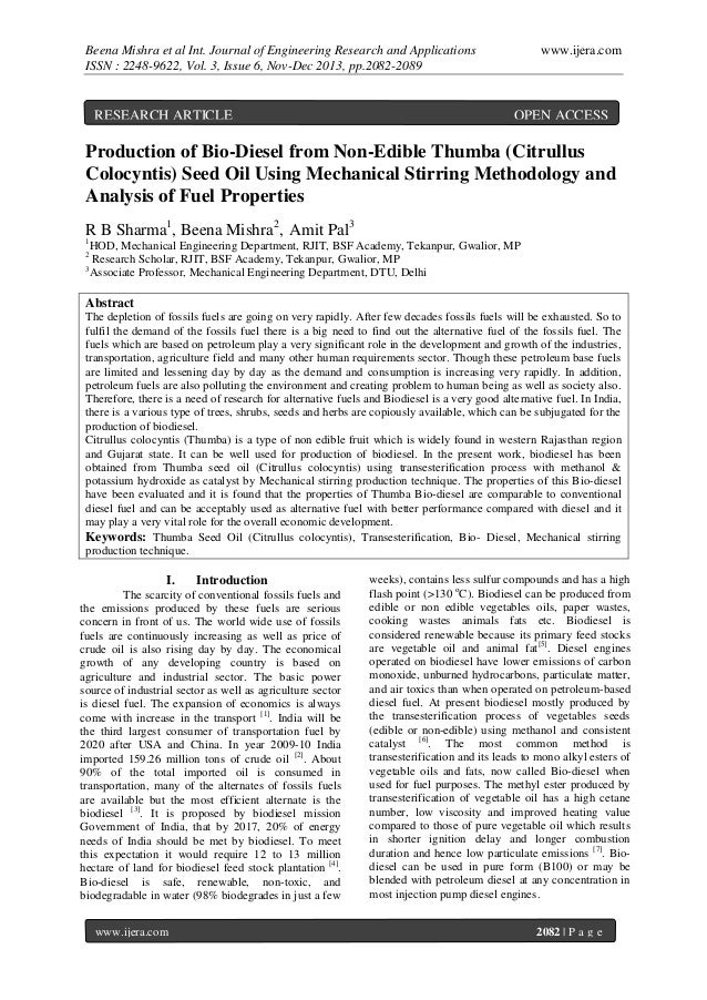 Beena Mishra et al Int. Journal of Engineering Research and Applications ISSN : 2248-9622, Vol. 3, Issue 6, Nov-Dec 2013, ...