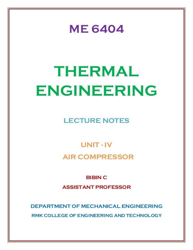 ME 6404 THERMAL ENGINEERING UNIT IV