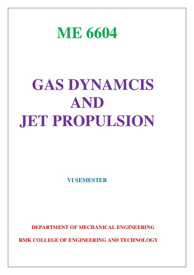 Aerothermodynamics Of Gas Turbine Rocket Propulsion Third Edition Pdf