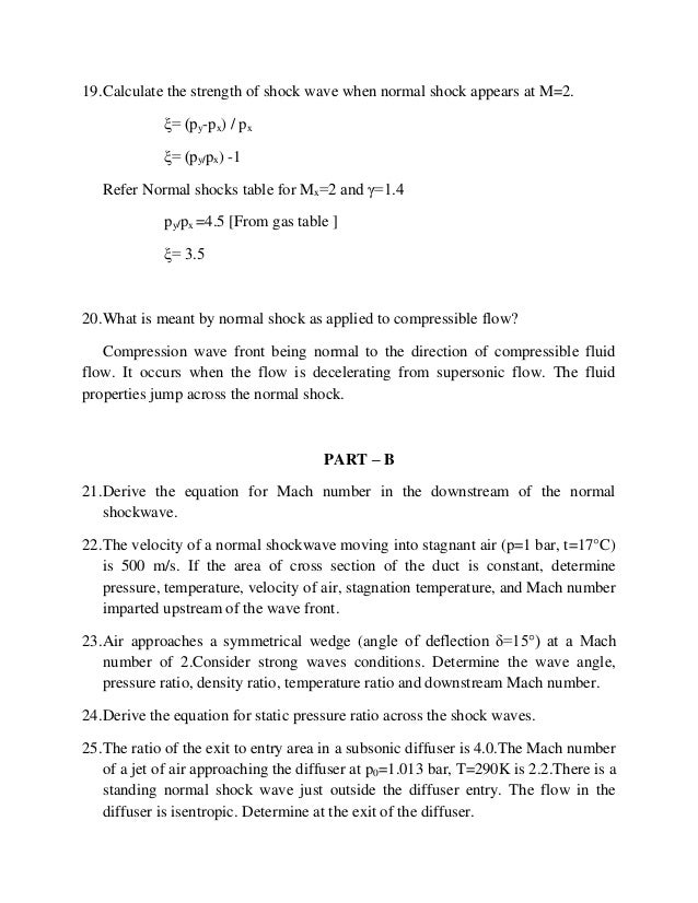 ME6604 GAS DYNAMICS AND JET PROPULSION SHORT QUESTION AND