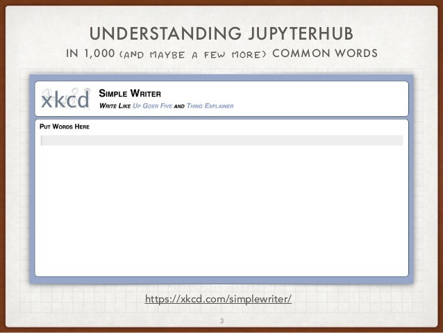 "JupyterHub - A ""Thing Explainer"" Overview Slide 3"
