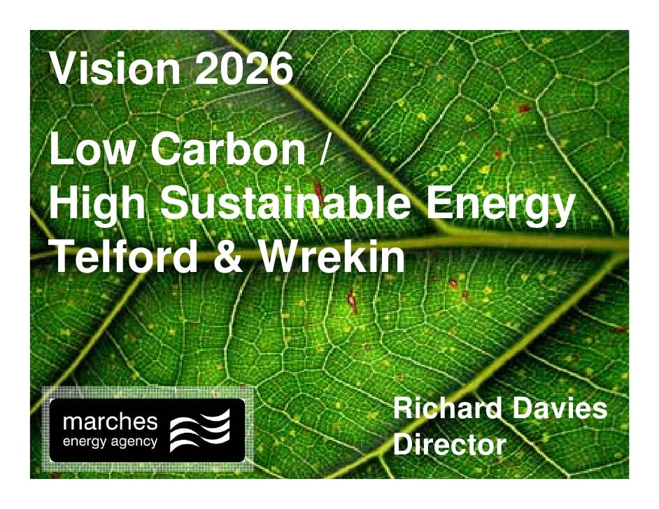 Vision 2026 Low Carbon / High Sustainable Energy Telford & Wrekin                 Richard Davies               Director