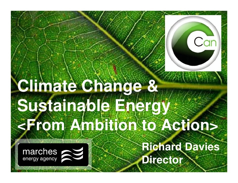 Climate Change & Sustainable Energy <From Ambition to Action>                Richard Davies                Director