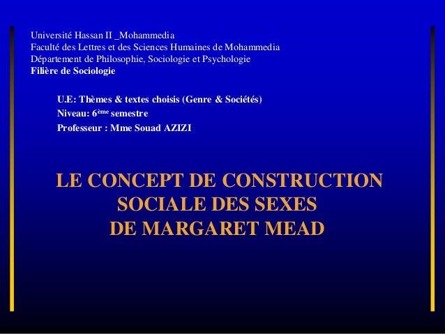 Université Hassan II _Mohammedia Faculté des Lettres et des Sciences Humaines de Mohammedia Département de Philosophie, So...