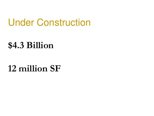 Under Construction$4.3 Billion12 million SF