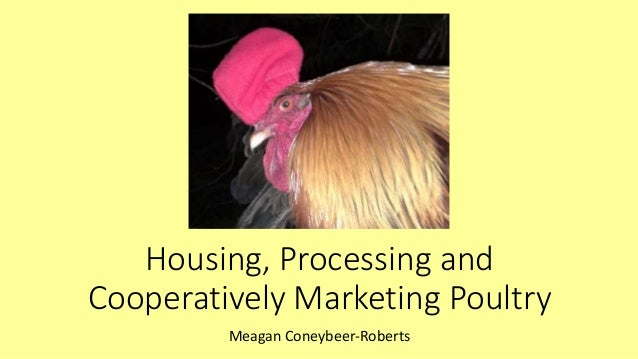 Housing, Processing and Cooperatively Marketing Poultry Meagan Coneybeer-Roberts