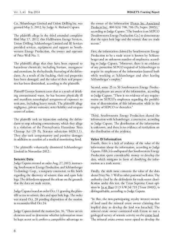 Mealey's Fracking-Report-sample-issue-may-2014