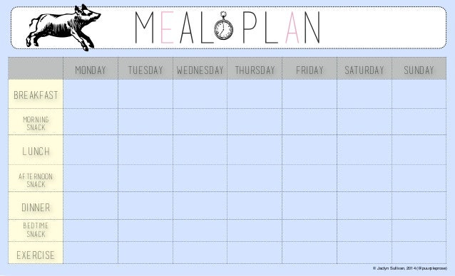 meal planner template Success
