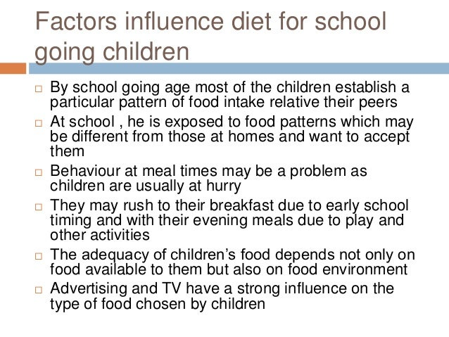 2 1 outline the factors that may affect nutritional intake in children Childcare centres should provide healthy meals for your children  nutrition – promote healthy eating and good food  and your food choices may affect your .