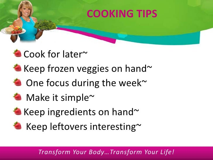 Meal planning powerpoint presentation