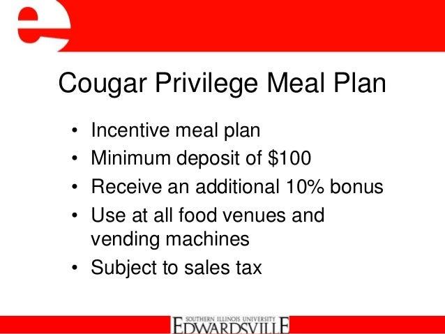 8 Cougar Privilege Meal Plan E2 80 A2 Incentive Meal Plan E2 80 A2 Minimum Deposit