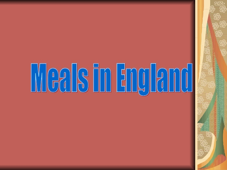 Meals in England