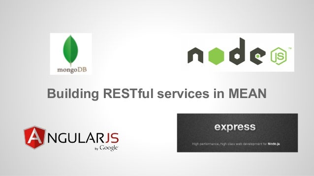 Building RESTful services in MEAN