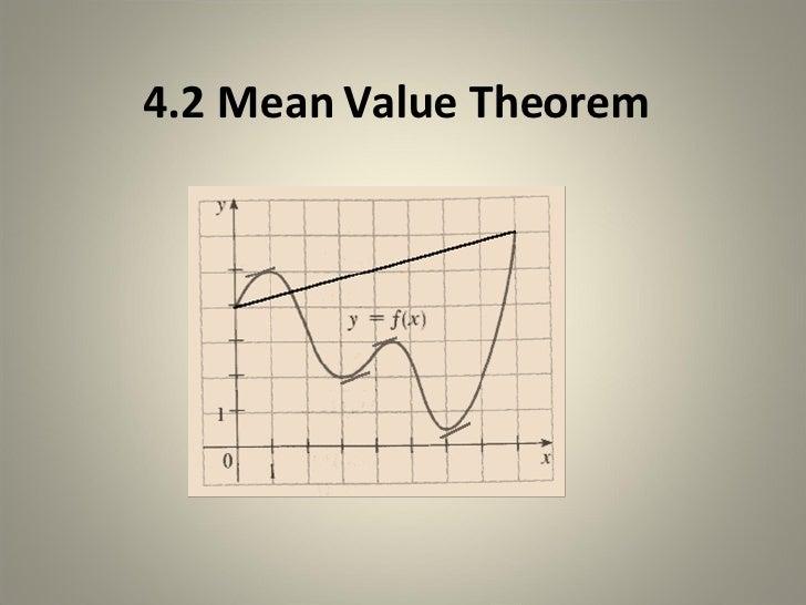 4.2 Mean Value Theorem