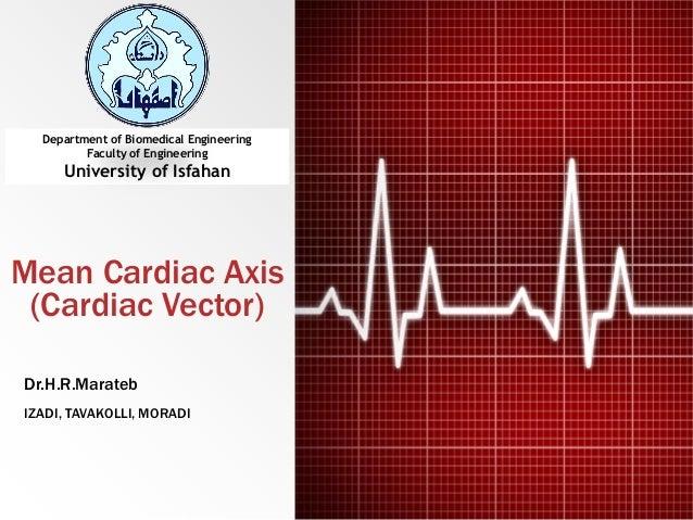 Mean Cardiac Axis (Cardiac Vector) IZADI, TAVAKOLLI, MORADI Dr.H.R.Marateb Department of Biomedical Engineering Faculty of...