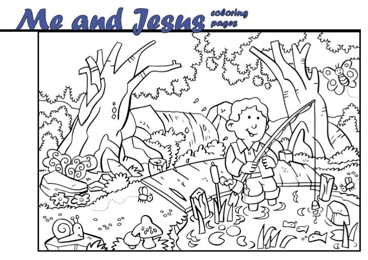 Me and Jesus   coloring               pages