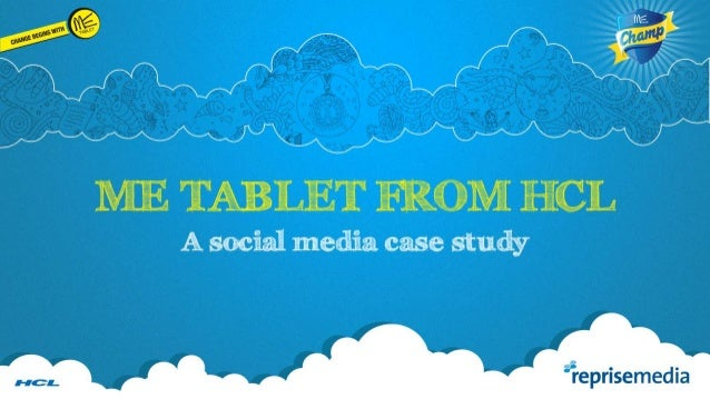 How HCL used social media to connect with parents and adults to promote the ME CHAMP TABLET