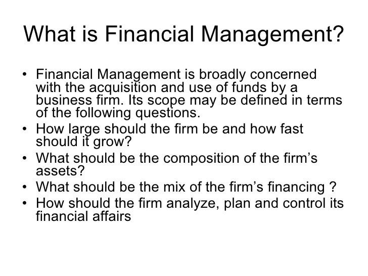 2. What Is Financial Management?
